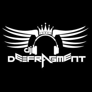 DeeFrag DJ Logo White Letters